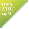 from £10 per sq. metre