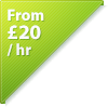 from £20 per hour
